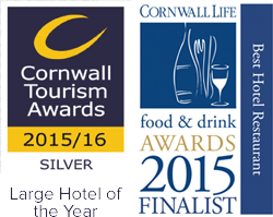 Silver Large Hotel of the Year 2015 - Cornwall Tourism Awards / Cornwall Food and Drink Awards Finalist