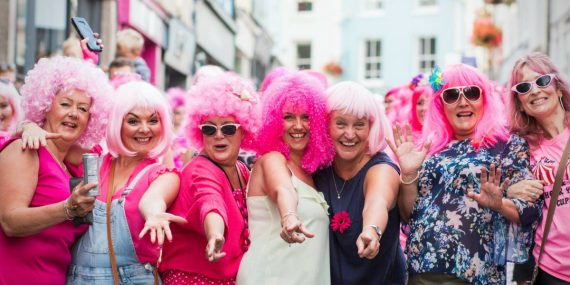 Pink-wig-night-falmouth-week-the-working-boat-cornwall