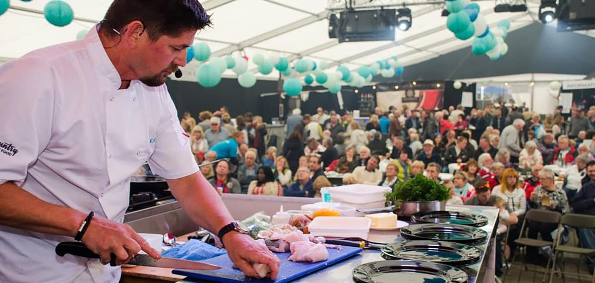 Falmouth Oyster Festival Cornwall Nick Hodges Chef Greenbank Hotel