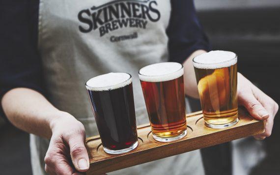 Beer-flight-Skinners-Brewery-cornwall