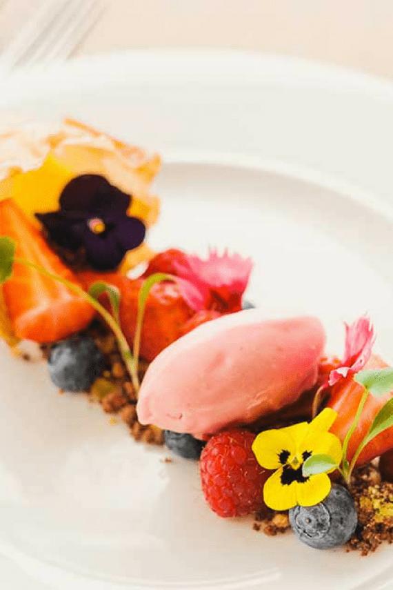 greenbank-gardens-dessert-waters-edge-restaurant-edible-flowers-locally-sourced