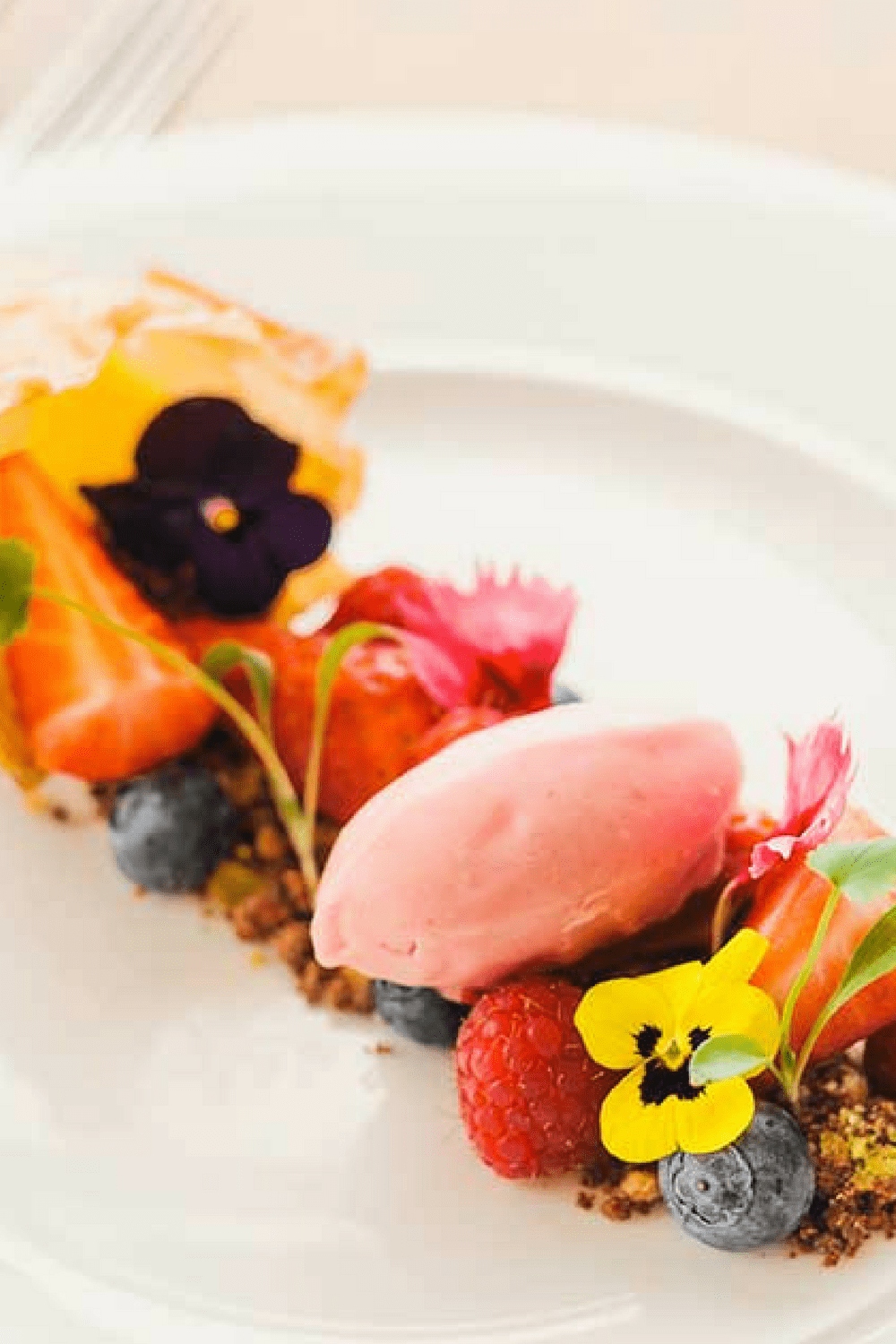 greenbank-gardens-dessert-waters-edge-restaurant-edible-flowers-locally-sourced