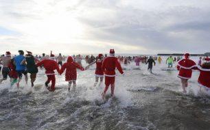 christmas swim Cornwall