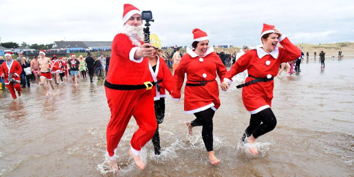 christmas swim Cornwall