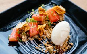 cornish-recipe-tommy-gilbert-greenbank-hotel-rhubarb-confit-dessert