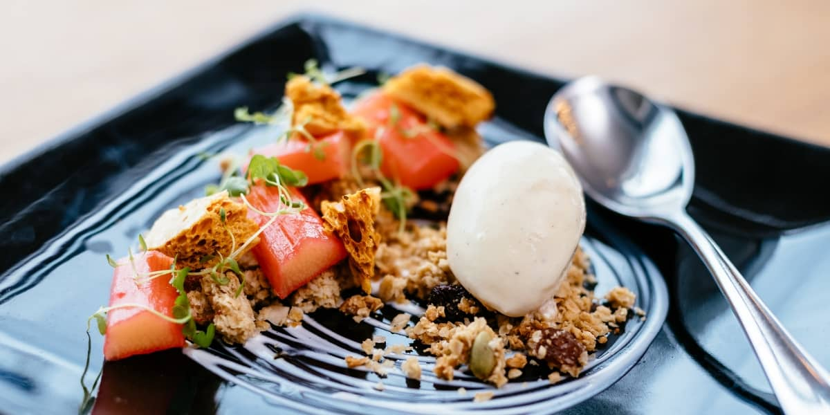 cornish-recipe-tommy-gilbert-greenbank-hotel-rhubarb-confit-dessert