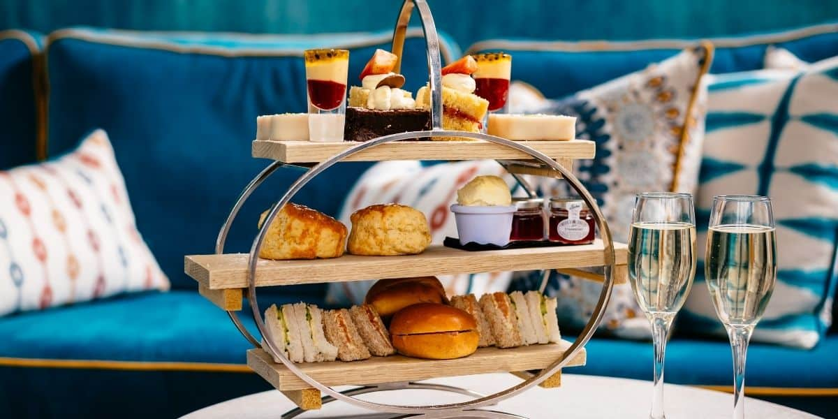 whats-on-in-cornwall-this-may-2021-greenbank-hotel-champagne-afternoon-tea-terrace